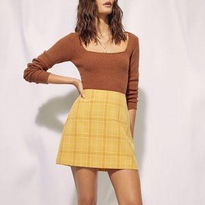 Aritzia Wilfred Renée Plaid Mini Skirt